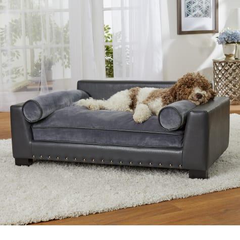 Enchanted Home Pet Skylar Dark Grey Sofa for Dog