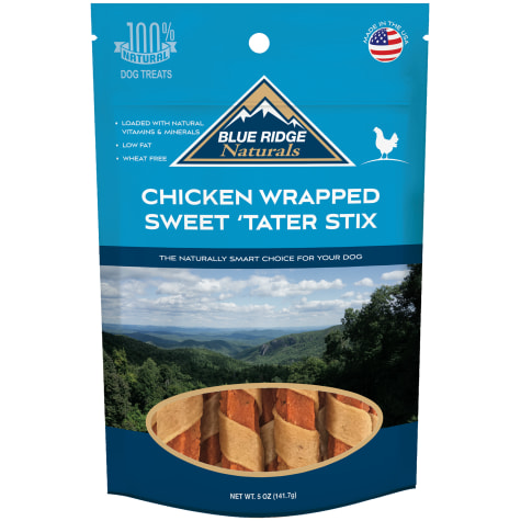 Blue Ridge Naturals Chicken Wrapped Sweet Tater Stix Dog Treats