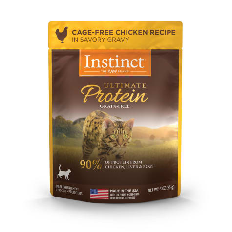 Instinct Ultimate Protein Grain-Free Cuts & Gravy Cage-Free Chicken Recipe in Savory Gravy Wet Cat Food
