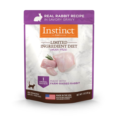 Instinct Limited Ingredient Diet Grain-Free Cuts & Gravy Real Rabbit Recipe in Savory Gravy Wet Cat Food