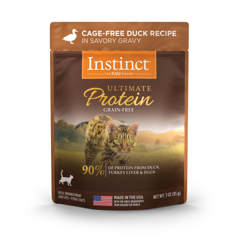 Instinct Ultimate Protein Grain-Free Cuts & Gravy Cage-Free Duck Recipe in Savory Gravy Wet Cat Food