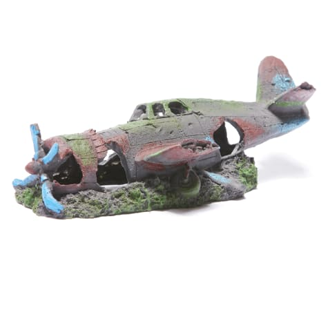 R&J Enterprises Plane Wreck Aquarium Decoration