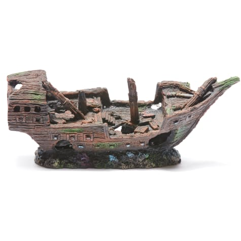 R&J Enterprises Sunken Ship Aquarium Decoration