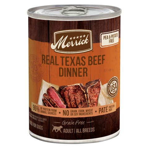 Merrick Grain Free Real Texas Beef Dinner Wet Dog Food