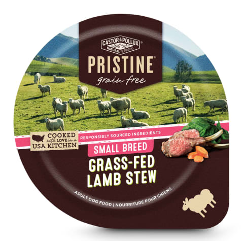 Castor & Pollux Pristine Grain Free Small Breed Grass-Fed Lamb Stew Wet Dog Food