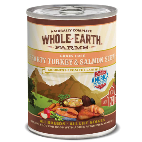 Whole Earth Farms Hearty Turkey and Salmon Stew Wet Dog Food