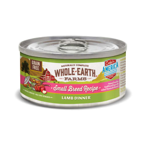 Whole Earth Farms Grain Free Small Breed Lamb Dinner Wet Dog Food