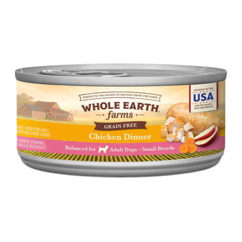 Whole Earth Farms Grain Free Small Breed Chicken Dinner Wet Dog Food