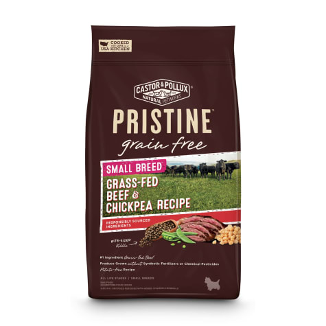 Castor & Pollux Pristine Grain Free Small Breed Grass-Fed Beef & Chickpea Recipe Dry Dog Food