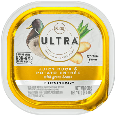 Nutro Ultra Grain Free Filets in Gravy Juicy Duck & Potato Entree With Green Beans Adult Wet Dog Food