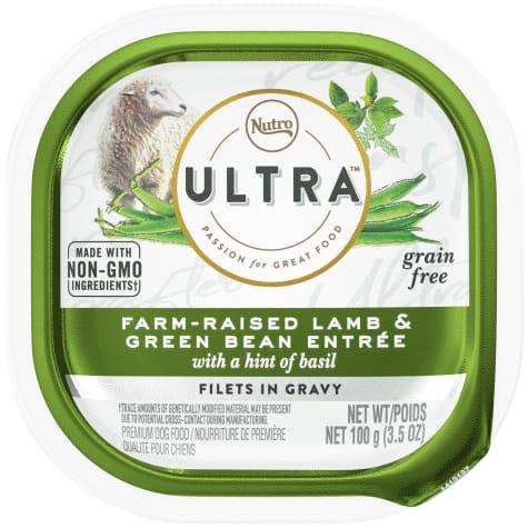 Nutro Ultra Grain Free Filets in Gravy Farm-Raised Lamb & Green Bean With Basil Adult Wet Dog Food