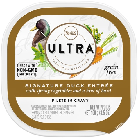 Nutro Ultra Grain Free Filets in Gravy Duck Entree With Spring Vegetables and Basil Adult Wet Dog Food