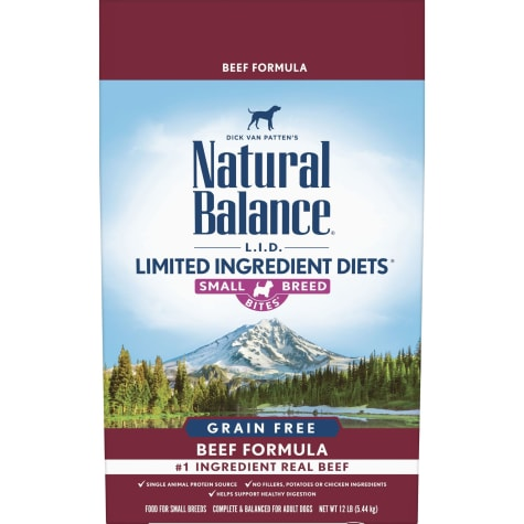 Natural Balance Limited Ingredient Diets Grain Free Small Breed Bites Beef Formula Dry Dog Food