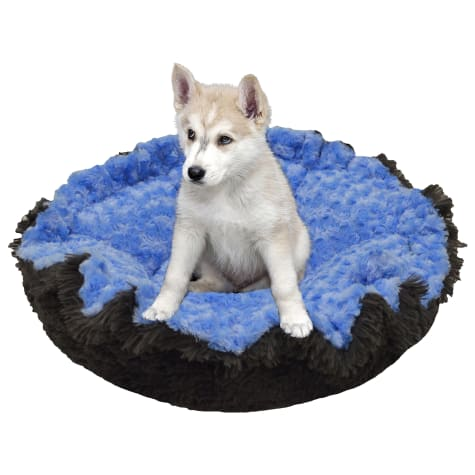Bessie & Barnie Ultra Plush Deluxe Blue Sky Wolfhound Grey Pet Cuddle Pod Cat Bed