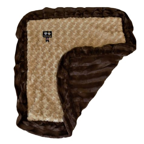 Bessie & Barnie Luxury Ultra Plush Camel Rose Godiva Brown Pet Blanket for Dogs