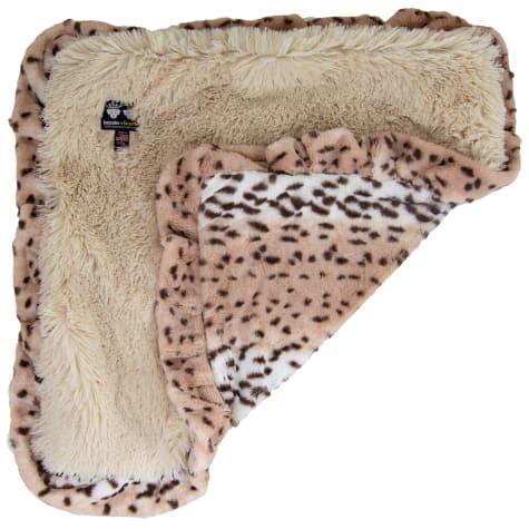 Bessie & Barnie Luxury Ultra Plush Aspen Snow Leopard Blondie Pet Blanket for Dogs