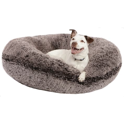 Bessie & Barnie Extra Plush Faux Fur Bagel Pet Frosted Willow Dog Bed