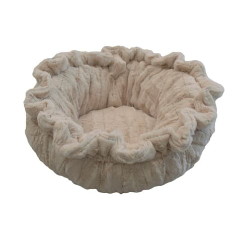 Bessie & Barnie Ultra Plush Deluxe Natural Beauty Pet Lily Pod Cat Bed