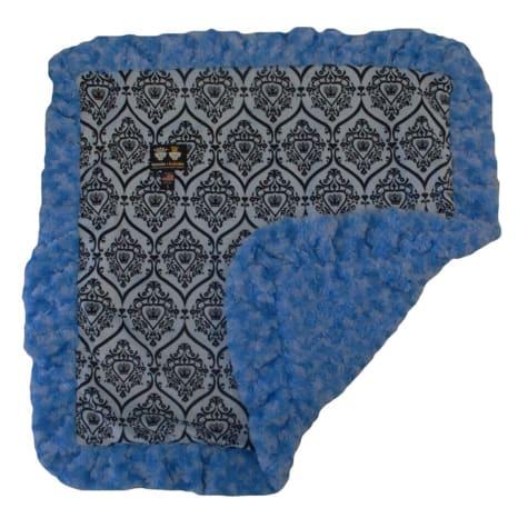 Bessie & Barnie Luxury Ultra Plush Versaille Blue Black Puma Pet Blanket for Dogs