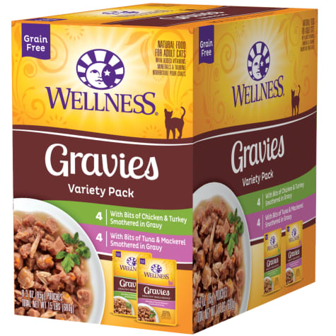 Wellness Complete Health Indulgence Grain Free Chicken Gravy Variety Pack Wet Cat Food