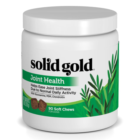 Solid Gold Joint Health Supplement Chews for Dogs With Natural Supplement with Glucosamine, MSM & Chondroitin