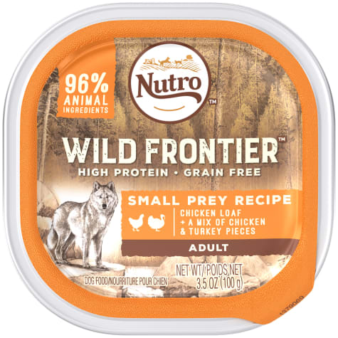 Wild Frontier Small Prey Recipe Chicken Loaf With a Mix of Chicken and Turkey Pieces Wet Dog Food