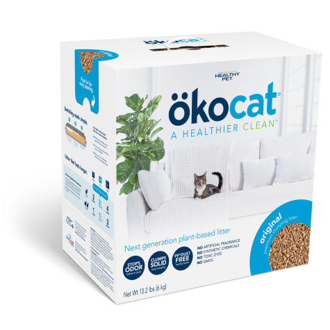 Okocat Unscented Natural Wood Clumping Cat Litter
