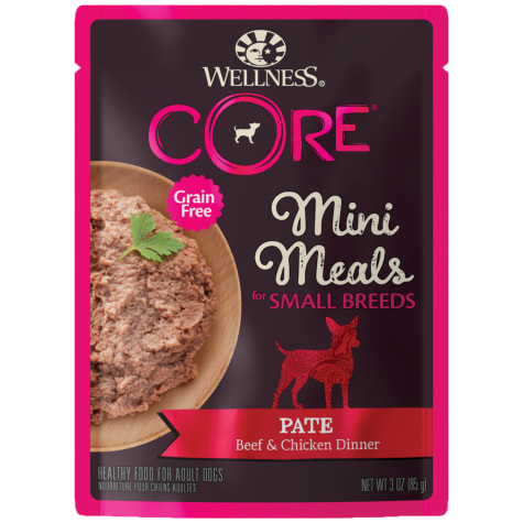 Wellness CORE Natural Grain Free Small Breed Mini Meals Pate Beef & Chicken Dinner Wet Dog Food