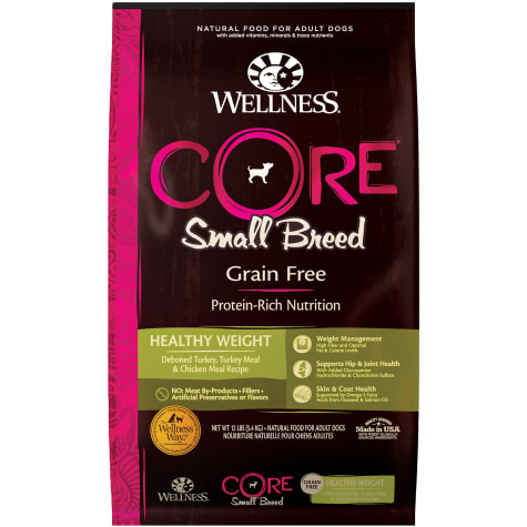 Wellness CORE Natural Grain Free Small Breed Healthy Weight Dry Dog Food