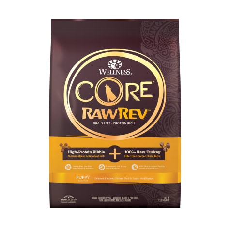 Wellness CORE RawRev Grain Free Natural Deboned Chicken & Turkey Dry Puppy Food