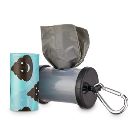 So Phresh Black and Clear Dog Waste Bag Dispenser with Refills