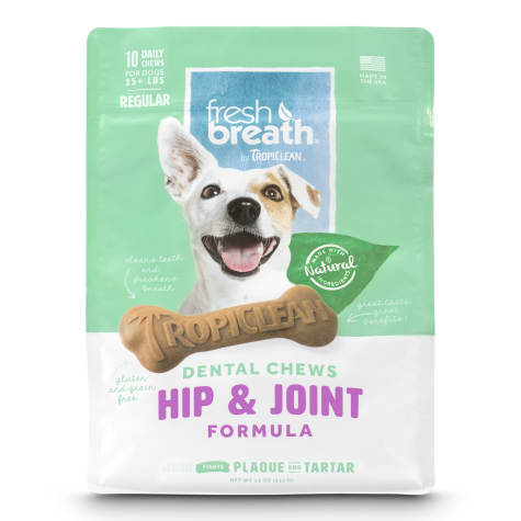 TropiClean Fresh Breath Regular Dental Chews Hip & Joint Formula for Dogs