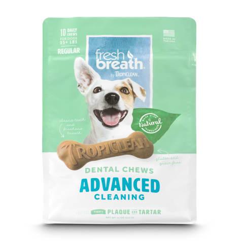 TropiClean Fresh Breath Advanced Regular Dental Chews for Dogs
