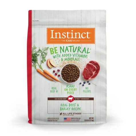 Instinct Be Natural Real Beef & Barley Recipe Freeze-Dried Raw Coated Dry Dog Food