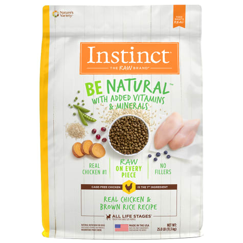 Instinct Be Natural Real Chicken & Brown Rice Recipe Natural Dry Dog Food by Nature's Variety
