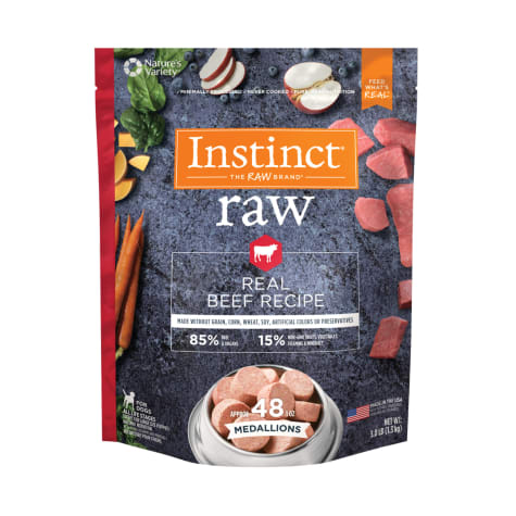 Instinct Frozen Raw Medallions Grain-Free Real Beef Recipe Dry Dog Food