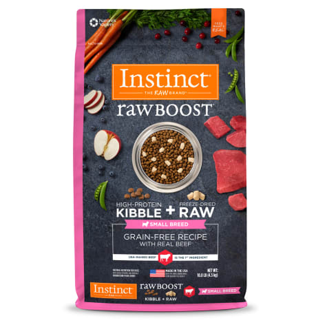 Instinct Raw Boost Small Breed Grain-Free Recipe with Real Beef Dry Dog Food with Freeze-Dried Raw Pieces