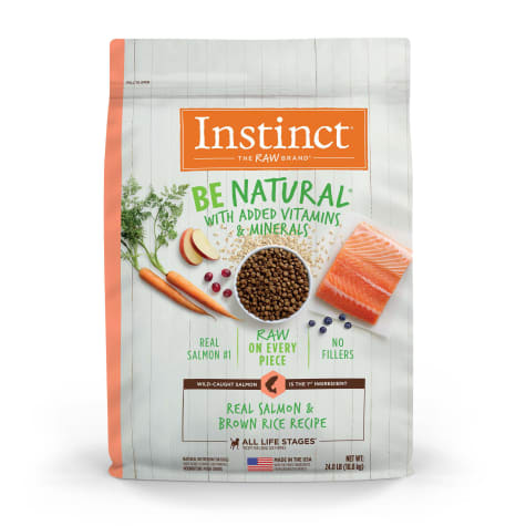 Instinct Be Natural Real Salmon & Brown Rice Recipe Natural Dry Dog Food by Nature's Variety