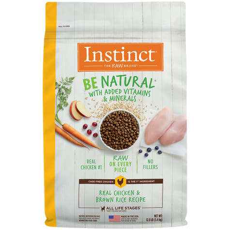 Instinct Be Natural Real Chicken & Brown Rice Recipe Dry Dog Food by Nature's Variety