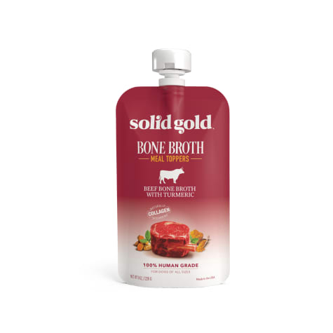 Solid Gold Beef Bone Broth with Turmeric Topper Real Bone Broth with Collagen Wet Dog Food
