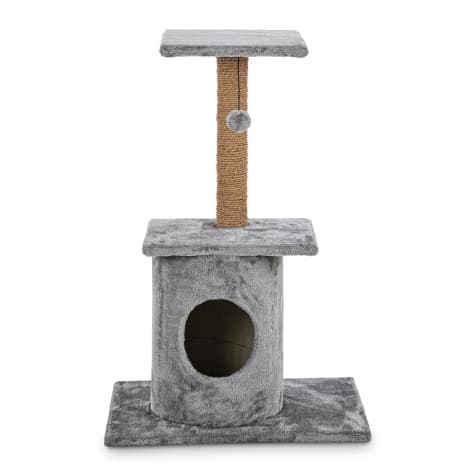 Animaze Grey Cat Tree Condo with Scratching Post