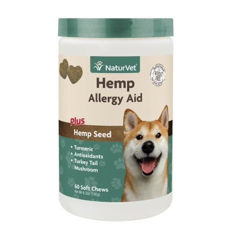 Naturvet Hemp Allergy Aid Soft Chews for Dogs