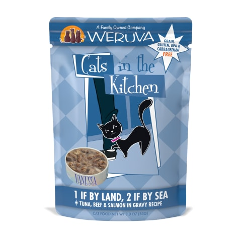 Cats in the Kitchen 1 If By Land, 2 If By Sea Tuna, Beef & Salmon in Gravy Recipe Wet Cat Food
