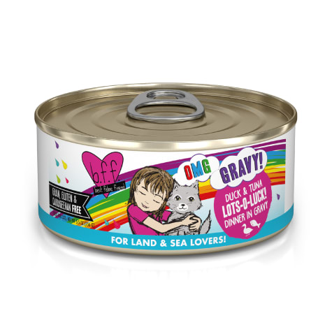 B.F.F. OMG Lots-O-Luck! Duck & Tuna Dinner in Gravy Wet Cat Food