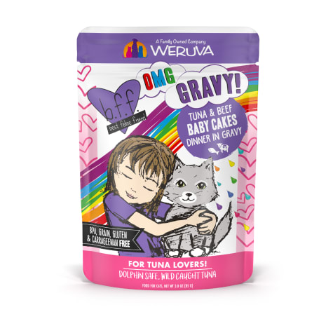 B.F.F. OMG Baby Cakes Tuna & Beef Dinner in Gravy Wet Cat Food