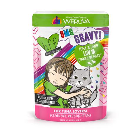 B.F.F. OMG Luv Ya Tuna & Lamb Dinner in Gravy Wet Cat Food