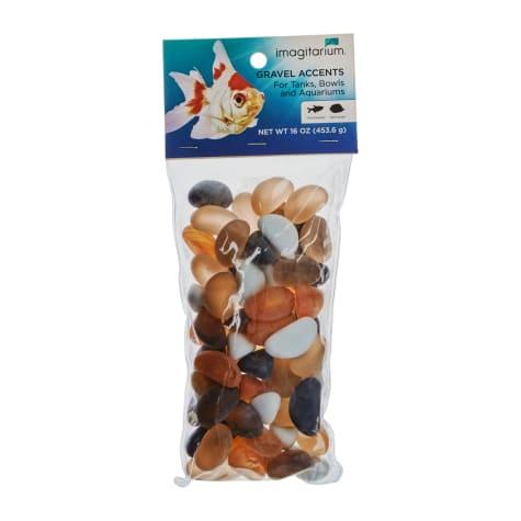 Imagitarium Tumbled Orange and Black Glass Aquarium Gravel Accent Mix