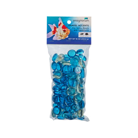 Imagitarium Ocean Blue Glass Gem Aquarium Gravel Accent Mix