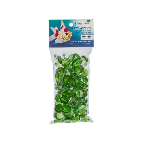 Imagitarium Green Glass Gem Aquarium Gravel Accent Mix