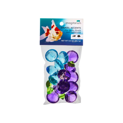 Imagitarium Blue Gem Treasure Aquarium Gravel Accent Mix